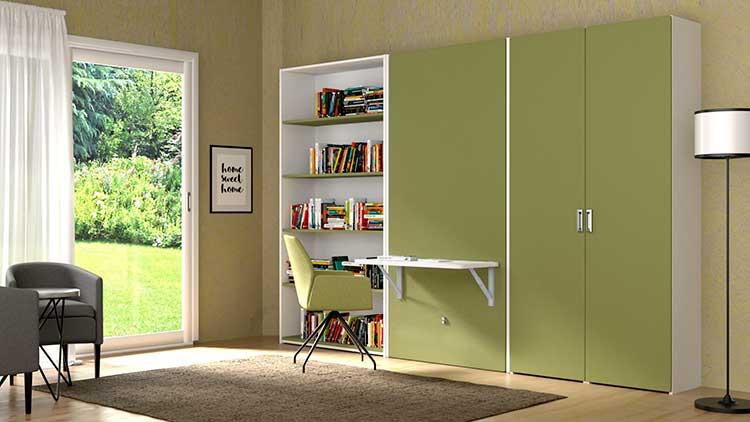 Usare i mobili a scomparsa per raddoppiare lo spazio in casa